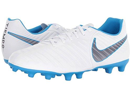 [NIKE(ナイキ)] メンズランニングシューズ?スニーカー?靴 Tiempo Legend 7 Club FG White/Metallic Cool Grey/Blue Hero 12.5 (30.5cm) D - Medium