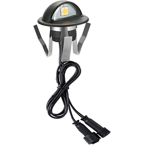 FVTLED Pack of 20 Warm White Low Voltage LED Deck lights kit Φ1.38'' Outdoor Garden Yard Decoration Lamp Recessed Landscape Pathway Step Stair Warm White LED Lighting, Black by FVTLED (Image #7)