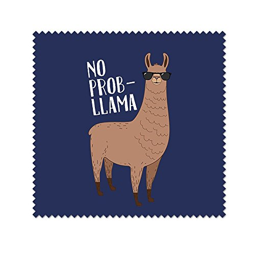 No Prob-Llama Cool Llama With Sunglasses For All Mild Surfaces,Touch Screens,Smart Phones,Camera Lenses,Eyeglasses - Wiki Sunglass