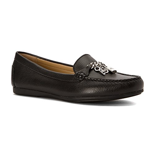 MICHAEL Michael Kors Womens Suki Moc Leather Closed Toe Loafers Black Tumbled Leather fQPMc