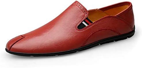 You Are Fashion 英国スタイルの男性フラットシューズ手作り本革男性ビジネスシューズ通気性のレースアップ男性フラットシューズローファーウイングチッププラットフォーム滑り止めレースアップラウンドトゥ (Color : Claret-red, サイズ : 26.5 CM)