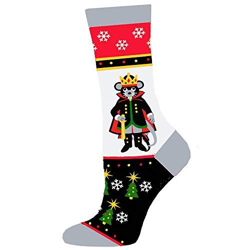 2009 Nutcracker Ornament - Nutcracker Ballet Socks- Fun Christmas Socks Inspired by the Nutcracker Ballet (Mouse King, Womens 5-10)