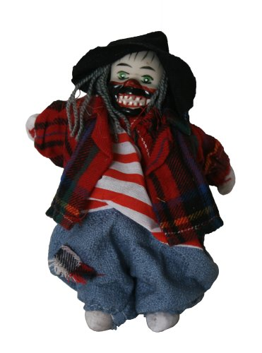 Clown Porcelain Doll 6 Inches Big Teeth, Hobo. For Halloween