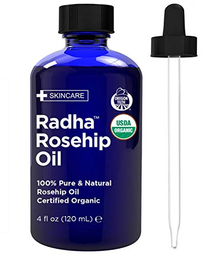 Radha-Beauty-Rosehip-Oil-USDA-Certified-Organic-4-oz-100-Pure-Cold-Pressed-All-Natural-Anti-Aging-Moisturizing-Treatment-for-Face-Hair-Skin-Nails-Acne-Scars-Wrinkles-Dry-Spots