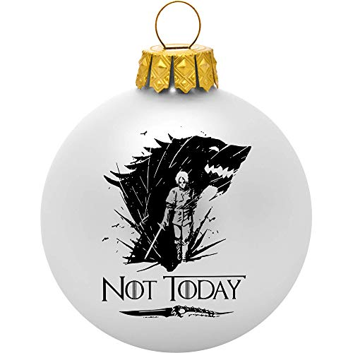 Women Of Game Of Thrones (Game of Thrones Ornament - Not Today White Ball Ornament - Arya Stark Game of Thrones Merchandise for Women and Men - Game of Thrones Gifts -)