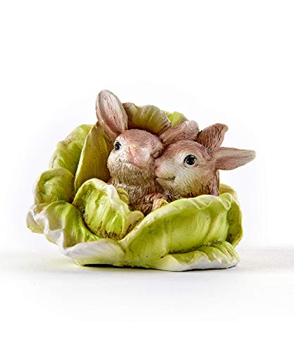 Gift Craft Miniature Woodland Animal Fairy Garden Mini Forest Polystone Figurines (Rabbit Couple) 711250