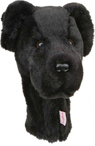 Lab Headcover Black - Daphne's Black Lab Hybrid/Utility Head Cover