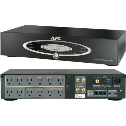 APC H10BLK 12-Outlet H-Type Rack-Mountable Power Conditioner with Coaxial Protection Consumer electronic