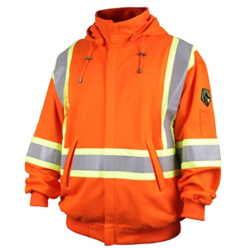 Revco/Black Stallion TruGuardTM 200 FR Cotton Hooded (Safety Orange) Sweatshirt, Reflectives xl