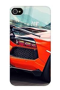 Fashion Tpu Case For Iphone 4/4s- Speeding Aventador Defender Case Cover