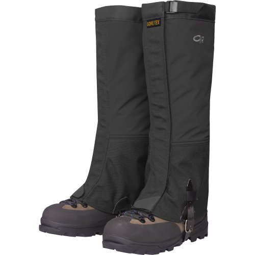 Summit Mountain Boot - Outdoor Research Men's Crocodile Gaiters, Black, Large
