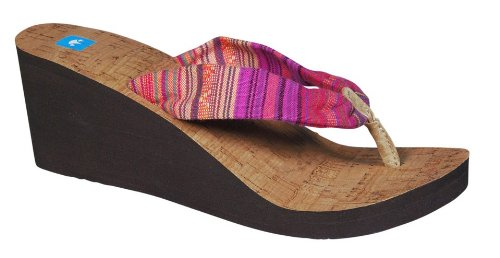 Freewaters Womens Kitz Wedge Fuchsia Sandal 9 B (M) 3u3HH4Qfbx