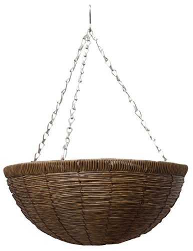 Gardman R257 Faux Natural Brown Rattan Hanging Basket, 14