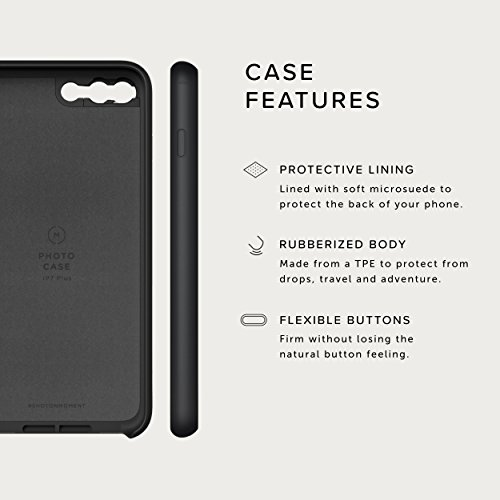 iPhone 8 Plus / iPhone 7 Plus Case with Macro Lens Kit || Moment Black Canvas Photo Case plus Macro Lens || Best iphone macro attachment lens with thin protective case. by Moment (Image #5)