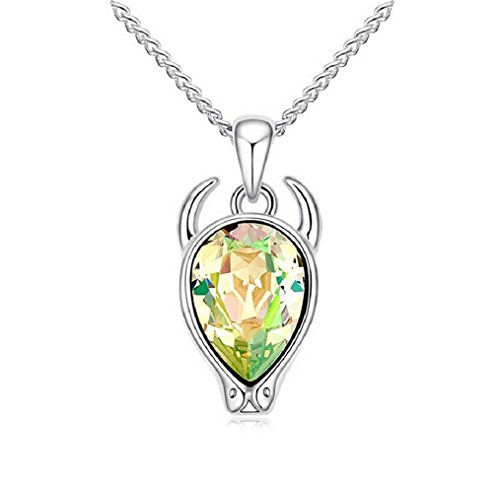 Yuriao Jewelry Elegant Fashion 18k Constellation Taurus Crystal Pendant Necklace£¨light (Homemade Adult Tinkerbell Costume)