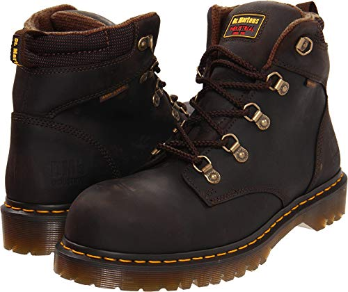 (Dr. Martens Holkham Steel Toe Hiker,Gaucho,6 UK/8 M US Women's/7 M US Men's)