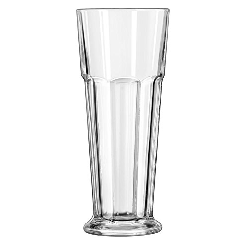 Libbey Footed Gibraltar DuraTuff Pilsner Glass, 14 Ounce -- 24 per case by Libbey