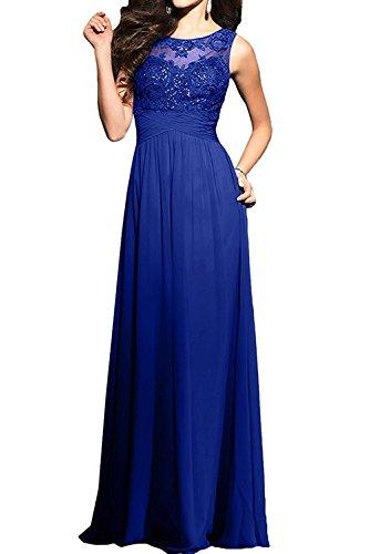 Spitze mia La Brautmutterkleider Damen Hundkragen Abendkleider Abschlussballkleider Braut Lang Royal Blau wFdOxdC