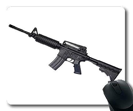 Yanteng Alfombrilla de ratón para Juegos, Pistola y Cuchillo, Pistola Completa, Alfombrilla de ratón con Bordes cosidos