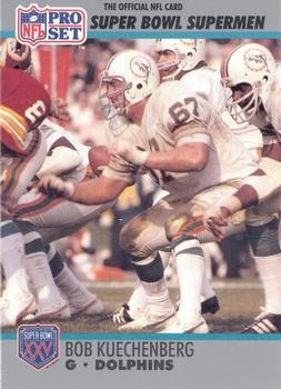 Bob Kuechenberg Football Card Miami Dolphins 1972 1990 Pro Set 65