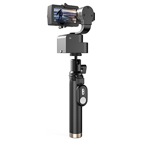 YI 4K Action Camera Bundled 3-Axis Gimbal Stabilizer Selfie Stick Bluetooth Remote Travel Case(US Edition) Night Black by YI