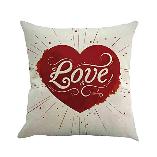 Littay Happy Valentine's Day Throw Pillow Case Sweet Love Square Cushion Cover 17.72