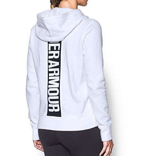 Under Armor Women's Favorite Fleece Full Zip Hoodie, White/Black, Small