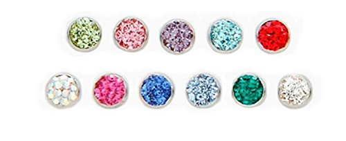 Infinity Color C.Z. Dome Dermal Head (Sold Individually) (Clear)
