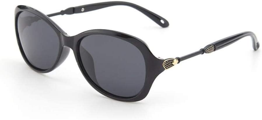 Gafas de Sol polarizadas Retro Medio Marco clásico para Hombre y Mujer, Señoras Retro Moda Ronda Cara Visera Espejo