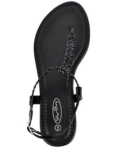 Dames Élégantes Sandales De Mode Noir