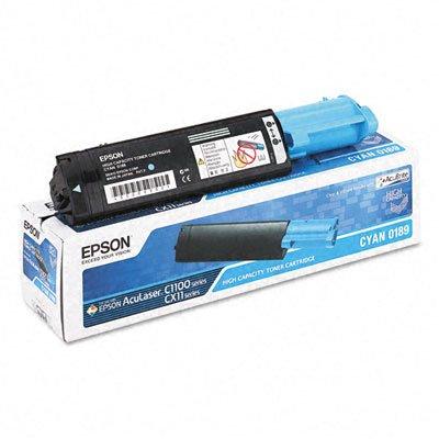 Epson AcuLaser C1100N Cyan Toner Cartridge (OEM) 2,000 Pages - Epson C1100 Cyan Toner