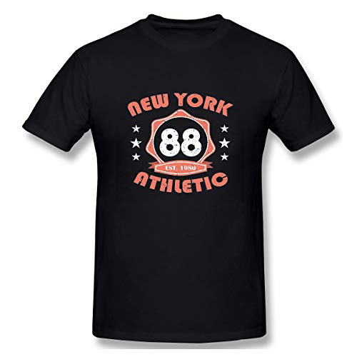 - Mens 90's Classic Shirt New York Sportswear Typography Print Stamp Athletic app Black