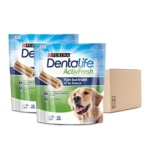 (Purina DentaLife Large Breed Dog Dental Chews; ActivFresh Daily Oral Care Large Chews - (2) 30 ct. Pouches)