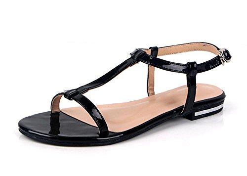Xia Jiping Unterseite vorne offene Sandale populäre Frauen lässig Sandalen mit Diamanten Black