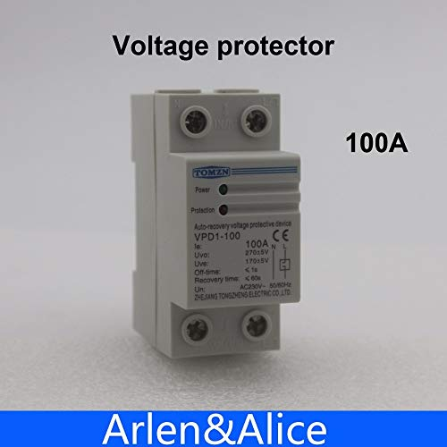 100A 230V Din Rail Automatic Recovery Reconnect Over Voltage and Under Voltage Protective Device Protector Protection Relay
