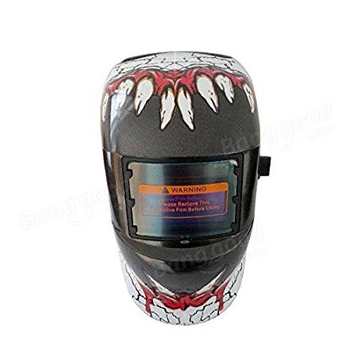 Electrical Welding Tools Helmet Mask & Goggles - Fangs Style Solar Welder Mask Auto Darkening Welding Helmet Mig Grinding by Unknown (Image #3)