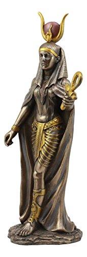 Ebros Egyptian Deity Goddess Hathor Holding Ankh Statue 11