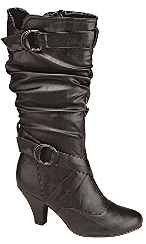 Top B Toe M 8 Round US 2 Dress Auto Black Moda Women's Boot 02 Uv8zqrU
