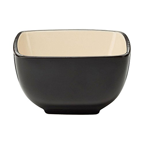 Cuisinart CDST1-BWW Melle Collection Stoneware Open Stock Square Bowl, 5.5-Inch, Cream (Open Stock Dinnerware Collection)