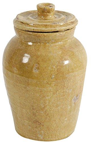 Benzara BM154132 Ceramic Jar with Lidded Top, ()