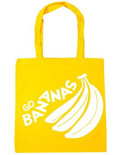 42cm x38cm Bag 10 Gym Go Bananas Shopping HippoWarehouse litres Tote Beach Yellow 0waOqxfR