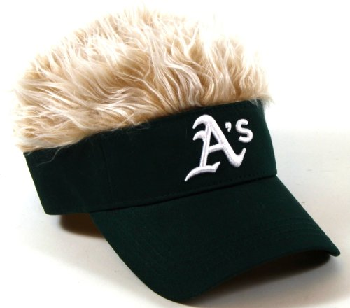 The Northwest Company MLB Oakland Athletics Flair Hair Adjustable Visor, Green