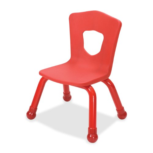 Balt Kids Chair with Steel Frame, 13-1/2-Inch, Red -