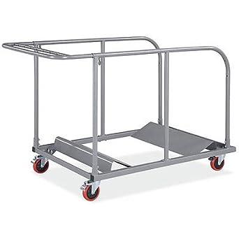 Amazoncom Heavy Duty Round and Rectangular Folding Table Cart