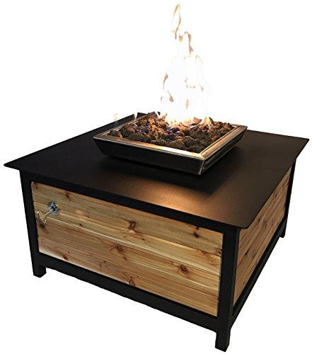 Impact Fire Table Heavy Duty Steel Raven Black Powder