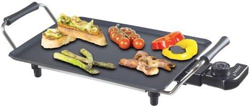 Plaque teppanyaki électrique anti-adhésif avec thermostat 1500W beper 90.386p