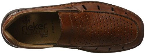 Rieker Men's 05276 Loafers, Crema Extra Weit, 7.5 UK Brown (Amaretto / 24 24)