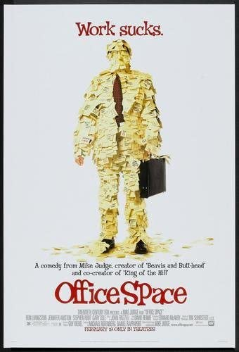 Amazon Com Office Space Movie Poster 11x17 Master Print Posters Prints
