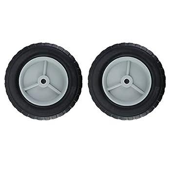 Wenwenzui-ES Reemplazo de Goma 2 Piezas Rueda de Carro de camión sólido de 8 Pulgadas Go Kart Barrow Tire: Amazon.es: Hogar
