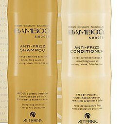 Alterna Bamboo Smooth Anti Frizz Shampoo and Conditioner 33.8 Ounce (w/pumps)